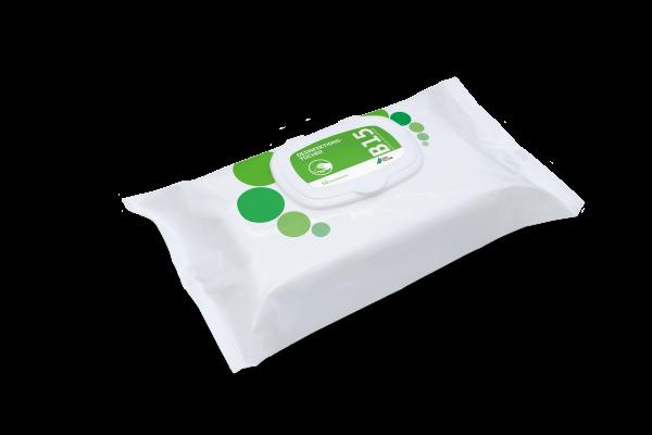 B 15 Desinfektionstücher, 4 Flowpacks à 50 Tücher